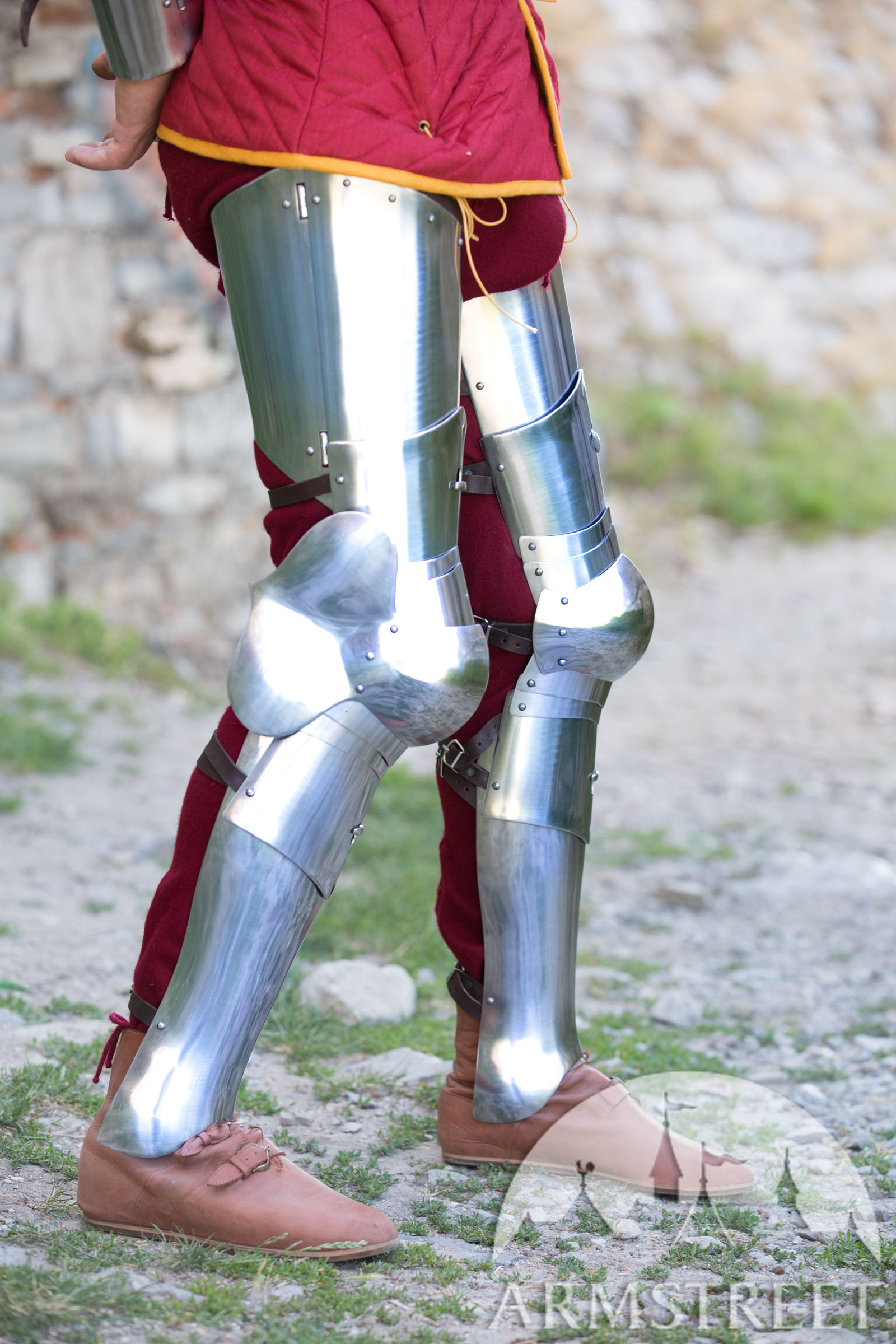 Armor Legs 3-in-1 Combat Kit. Available in: stainless :: by medieval store ArmStreet
