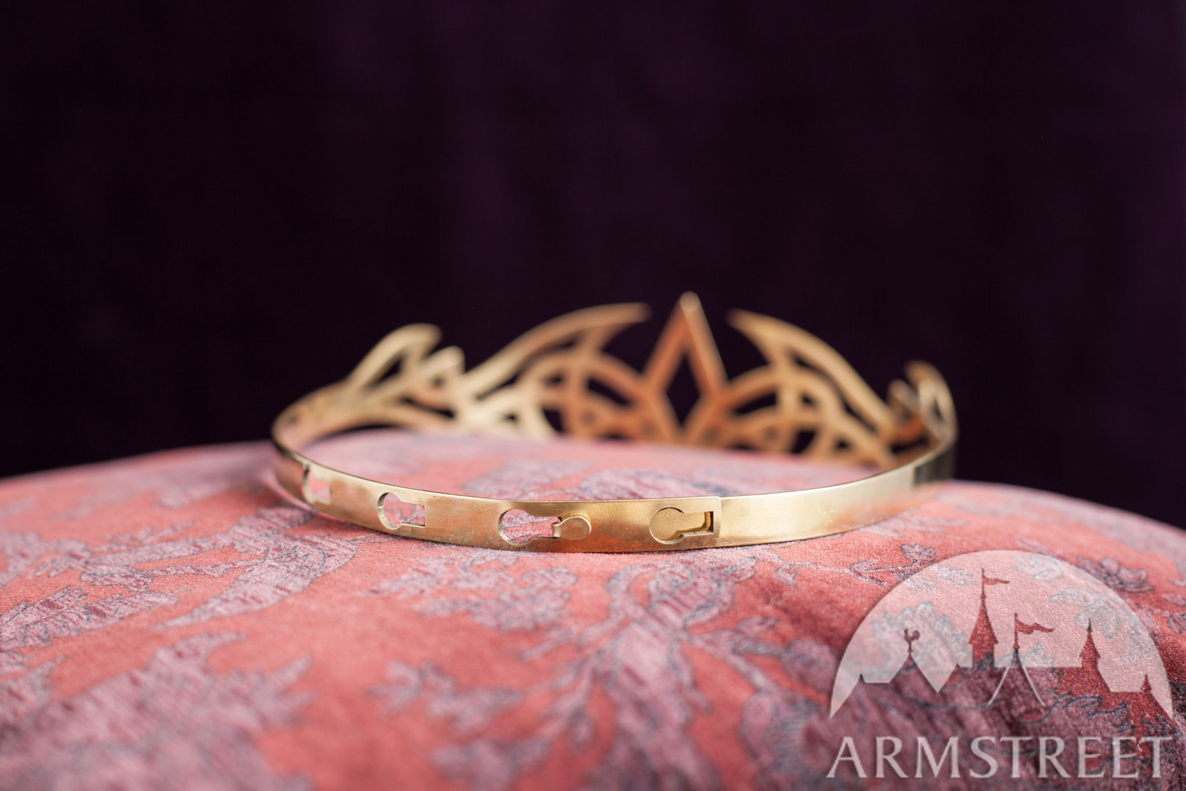 Handmade brass fantasy style crown for sale. Available in: brass ...