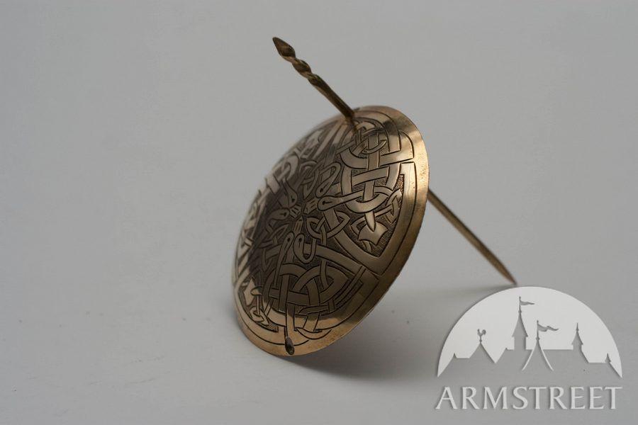 Handmade Brass Exclusive Large Brass Fibula Clasp For Sale