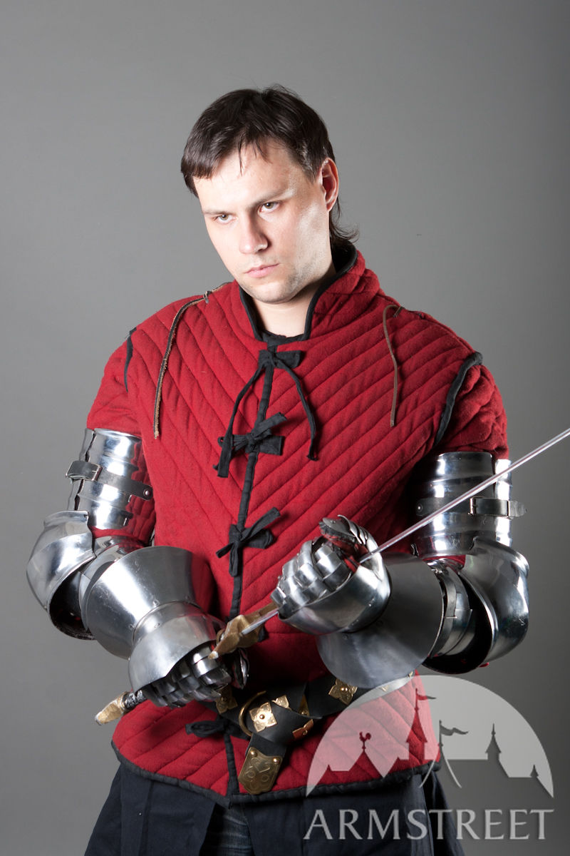 Functional medieval knight arm armor for SCA and ...