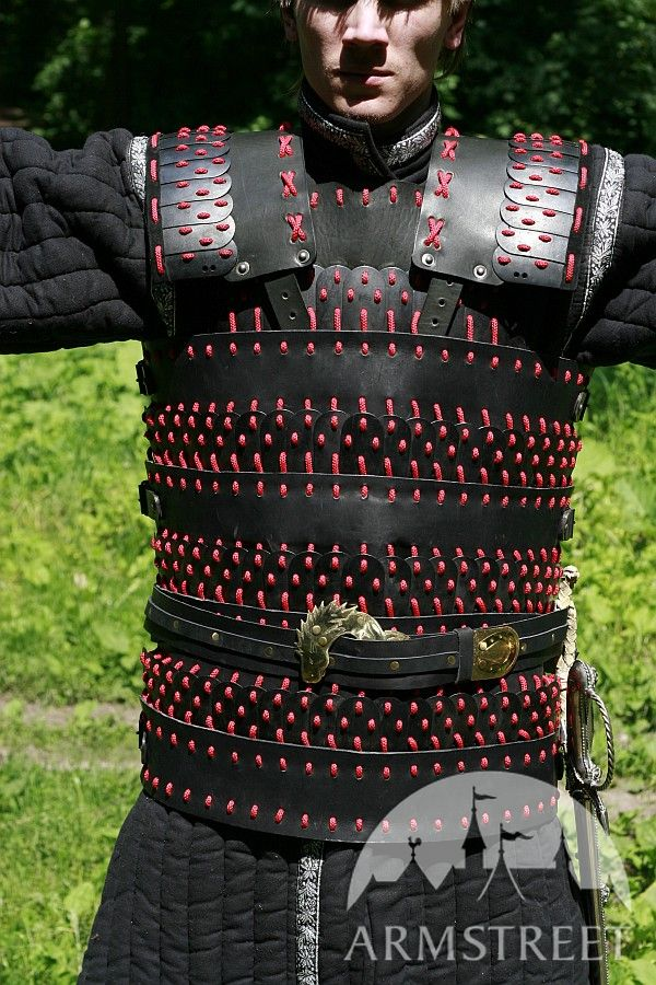 lamellar leather and steel armor suit for sale  available