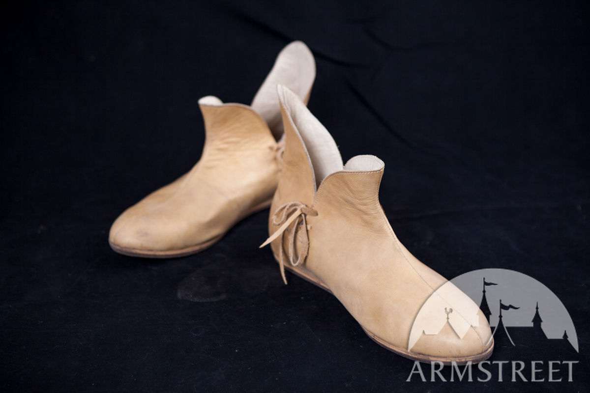 9f9adee0e92f0 Medieval Leather Shoes Classic XIV Century Design