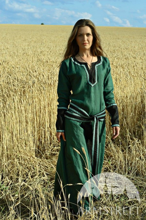 Medieval Fantasy Flax Linen Tunic For Sale Available In