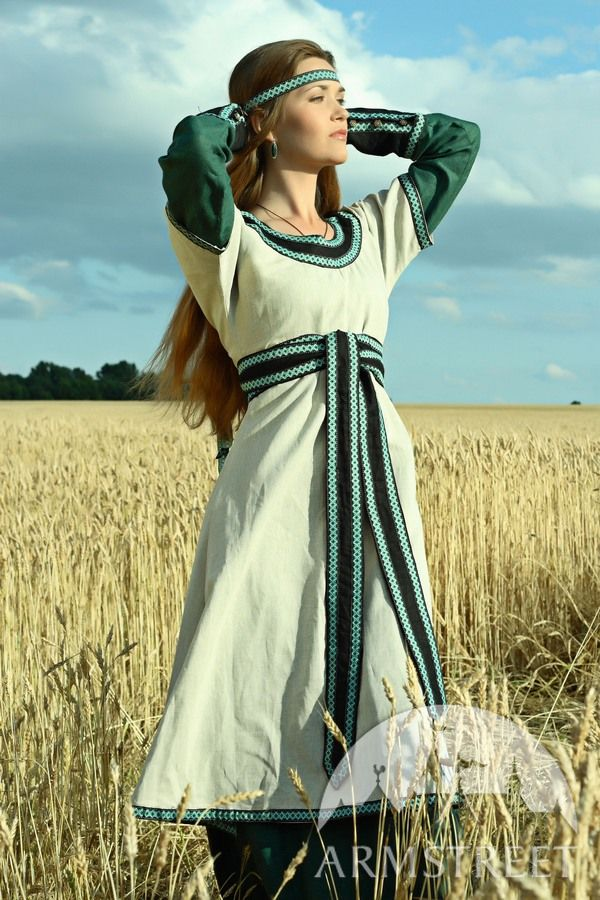 This Is An Elegant Flax Linen Tunic With Overtunic For
