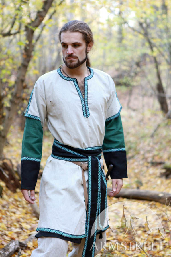 Medieval Long Man Tunic With Overcoat For Sale Available