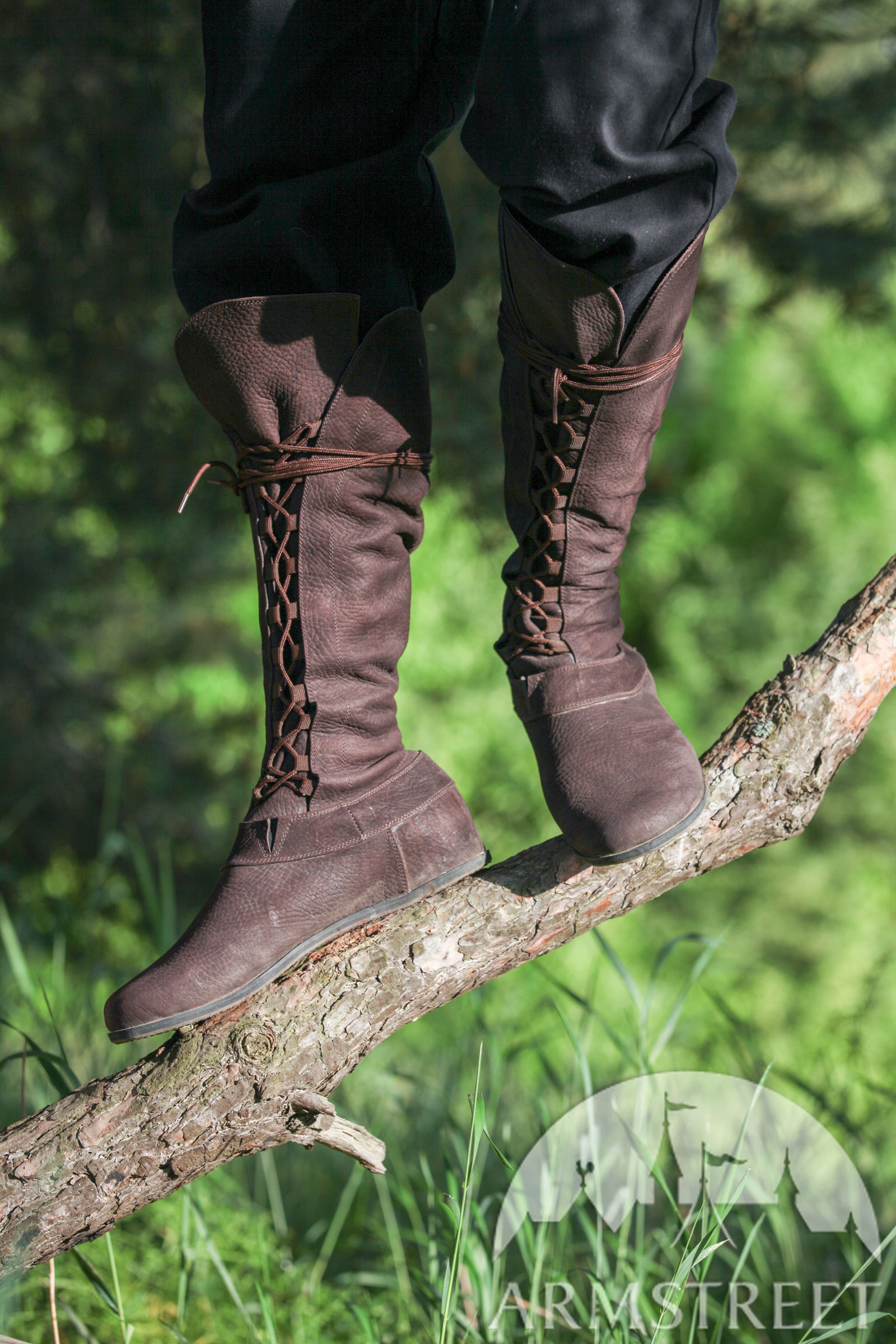 """06f2920e7d Medieval Outdoor Fantasy Boots """"Forest"""""""