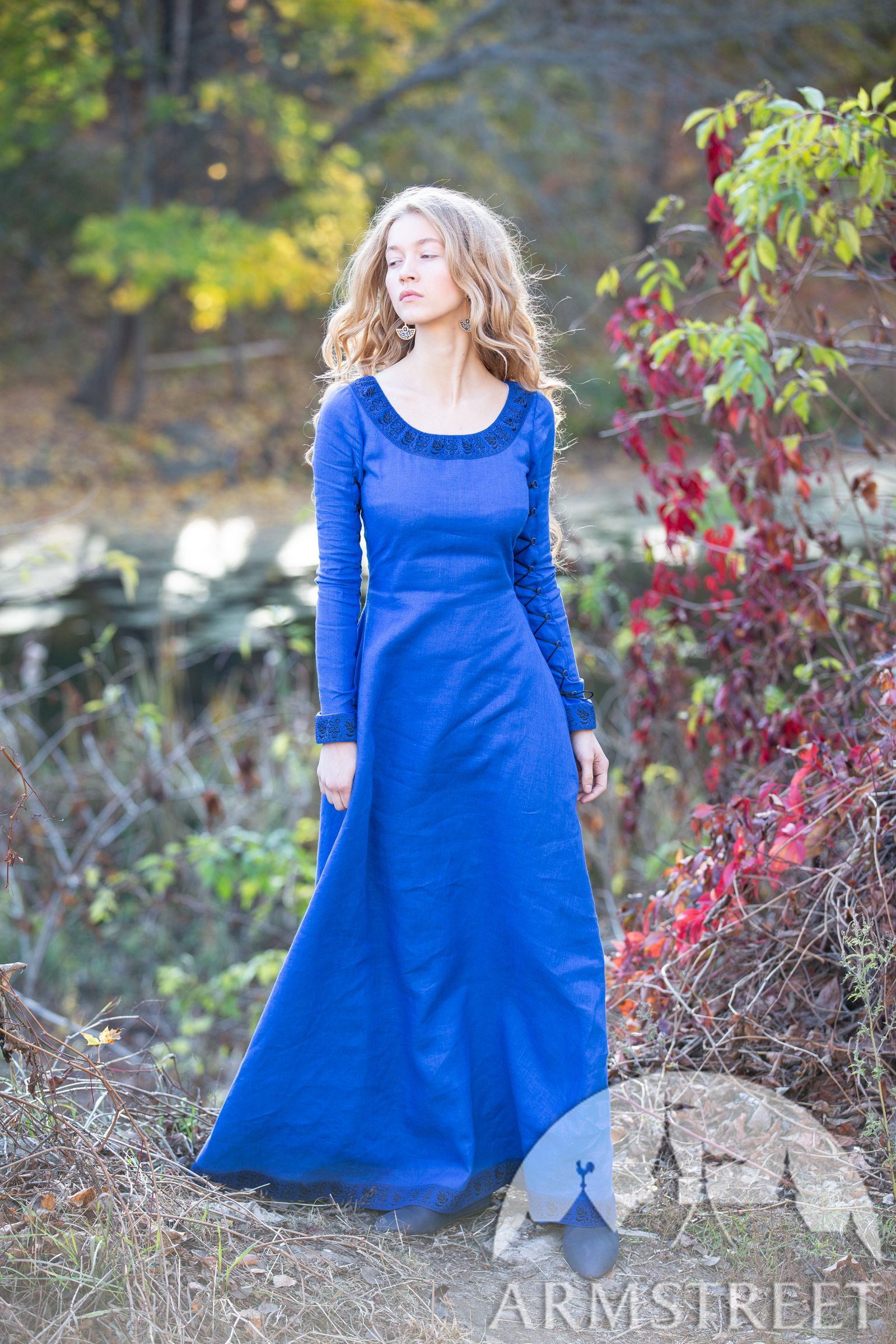 Fantasy Linen Dress Quot Autumn Princess Quot For Sale Available
