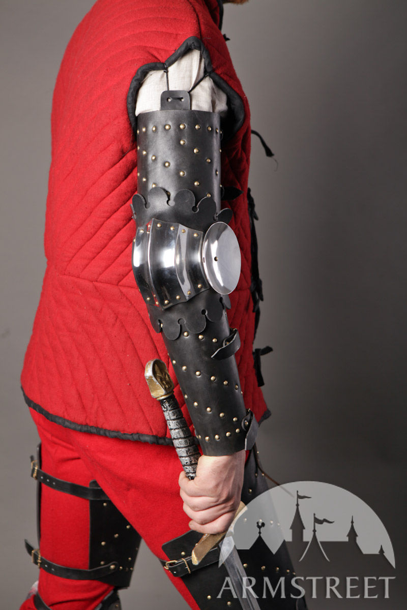Medieval Splinted Armour Arms With Fluted Elbow Cops For