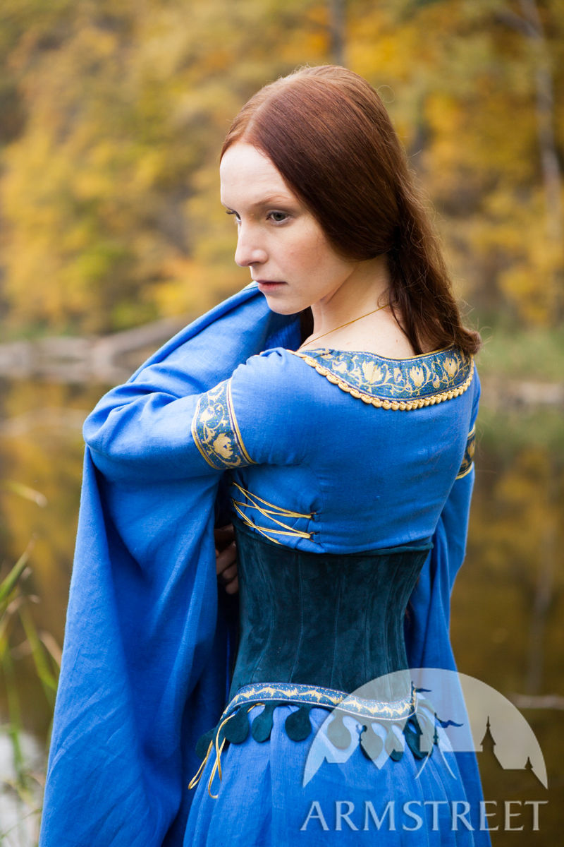 Medieval Style Suede Bodice Corset Belt Quot Lady Of The Lake