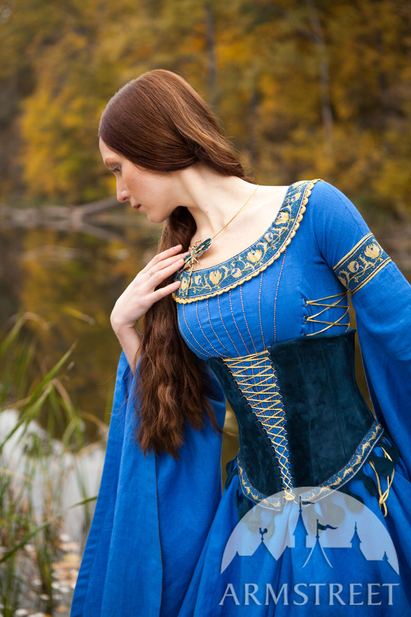 Medieval Style Suede Bodice Corset Belt
