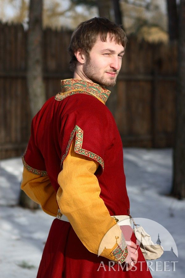 Natural Flax Linen Medieval Tunic And Overcoat Dark Ages