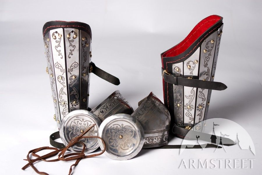Medieval Sca Armor Bracers Splinted With Elbow Cops And