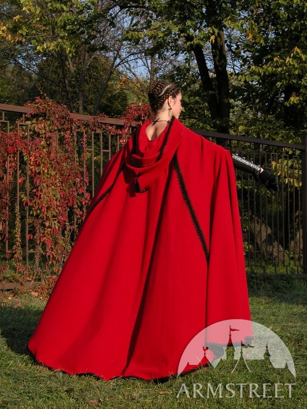 amazing medieval woolen cloak armstreet styling for sale