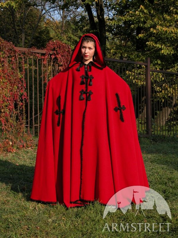 amazing medieval woolen cloak armstreet styling for sale available