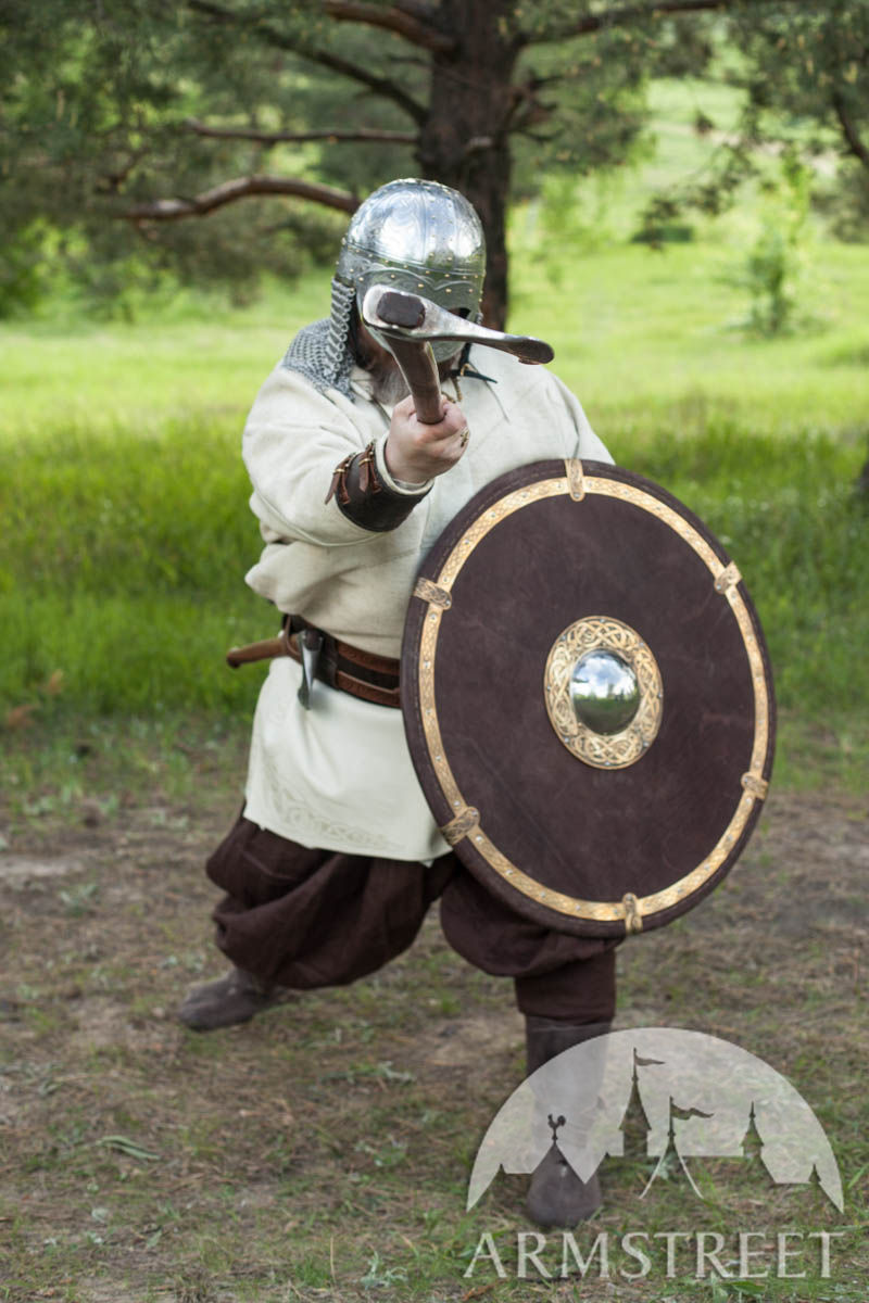 viking shield medium size with leather exterior available