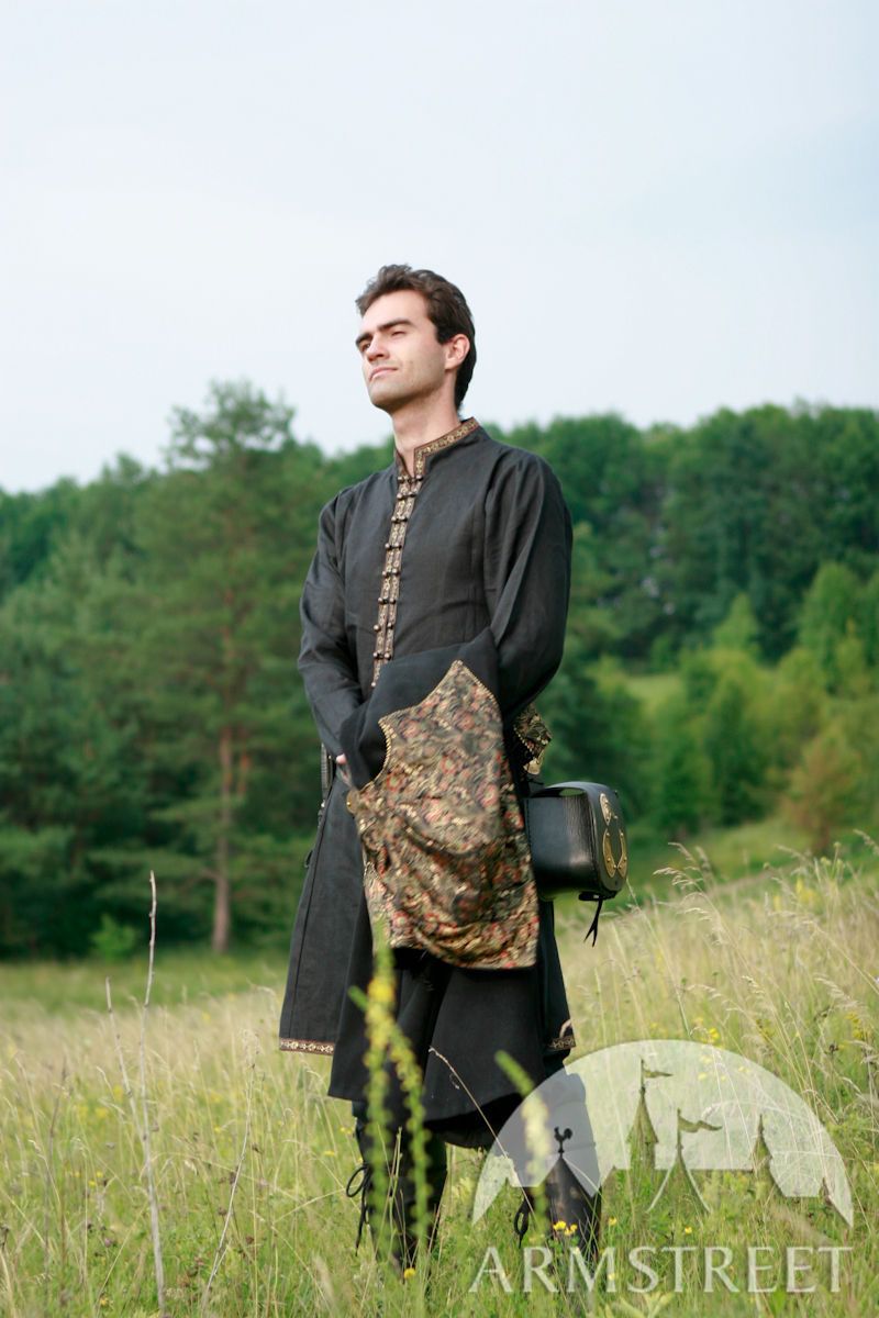 Medieval Or Elven Prince Fantasy Natural Flax Linen Tunic
