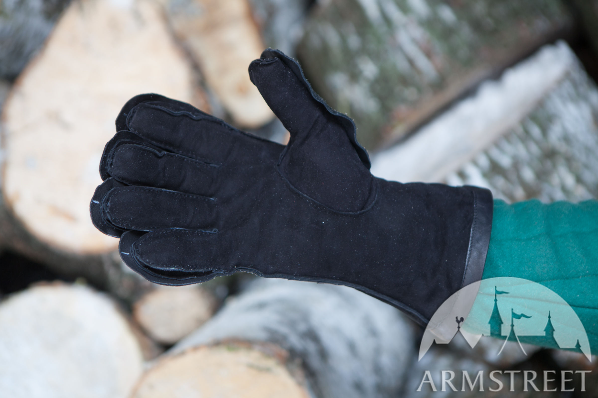 Padded Medieval Gloves Available In Ginger Gloving