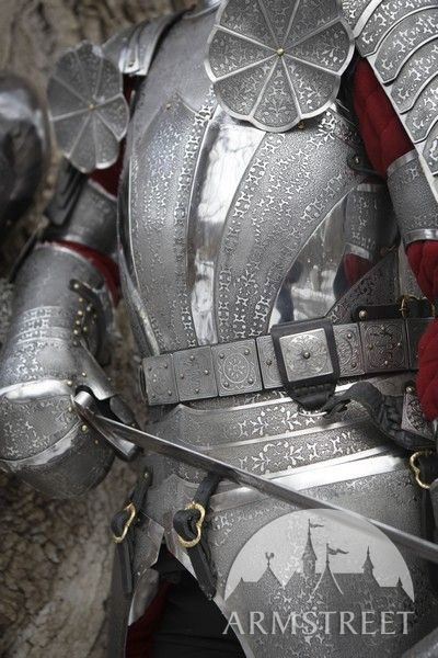 Paladin Etched Stainless Cuirass Breastplate