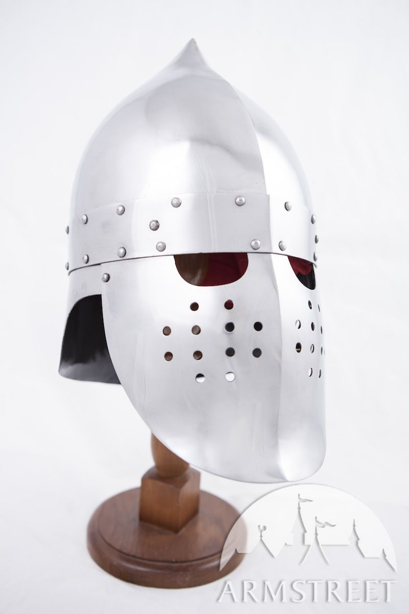 phrygian top ancient helmet sca reenactment available in stainless