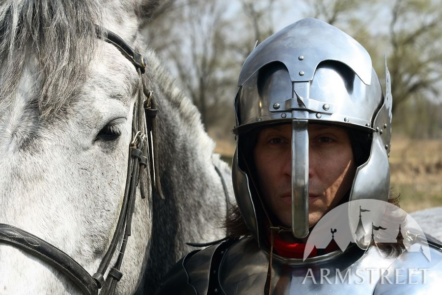 Hussar medieval armor - Polish hussar historically accurate armour set - winged helmet