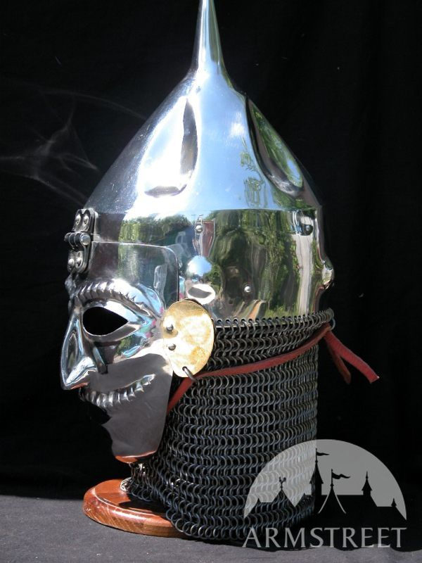 quotpolovecquot slavic cone helmet with facemask visor for sale