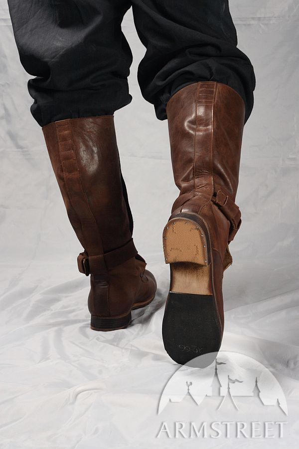 Renaissance High Leather Boots For Sca And Reenacment For -8512