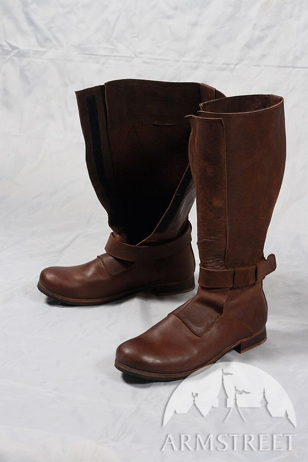 Renaissance High Leather Boots For Sca And Reenacment For -8246