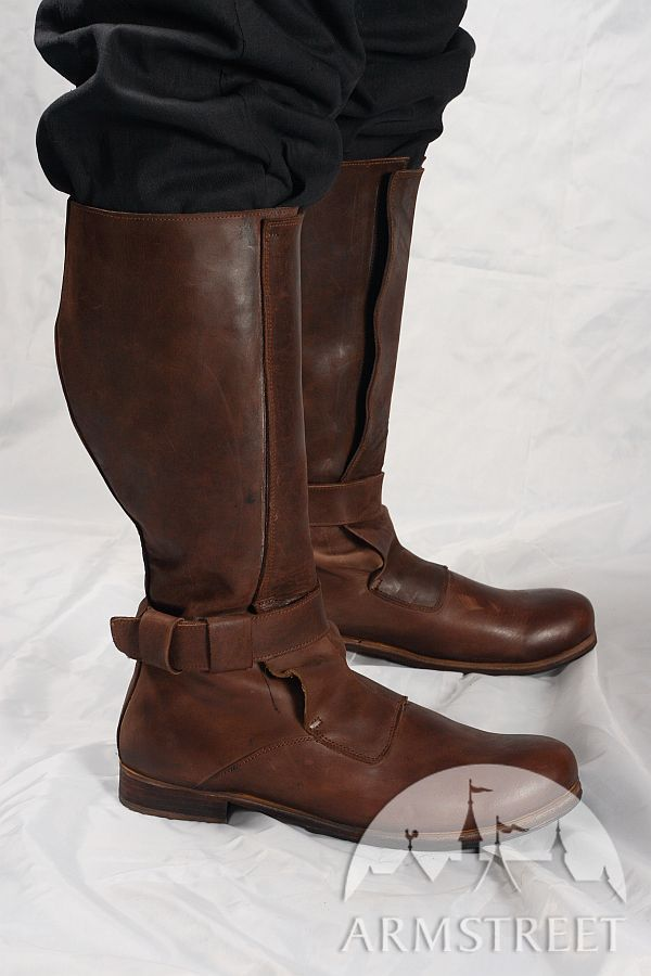 8bd5964e13f Renaissance High Leather Boots for sca and reenacment for sale. Available  in  crazy horse brown natural leather