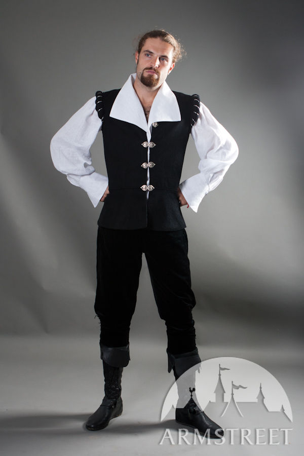 Renaissance Medieval Noble Shirt And Vest Set Quot Chevalier