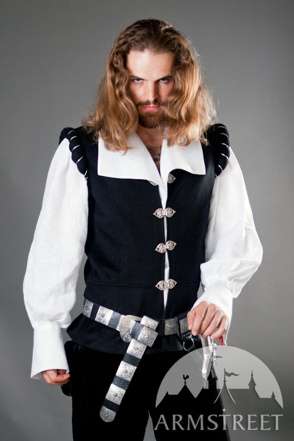 renaissance medieval noble wool vest quotchevalierquot for sale