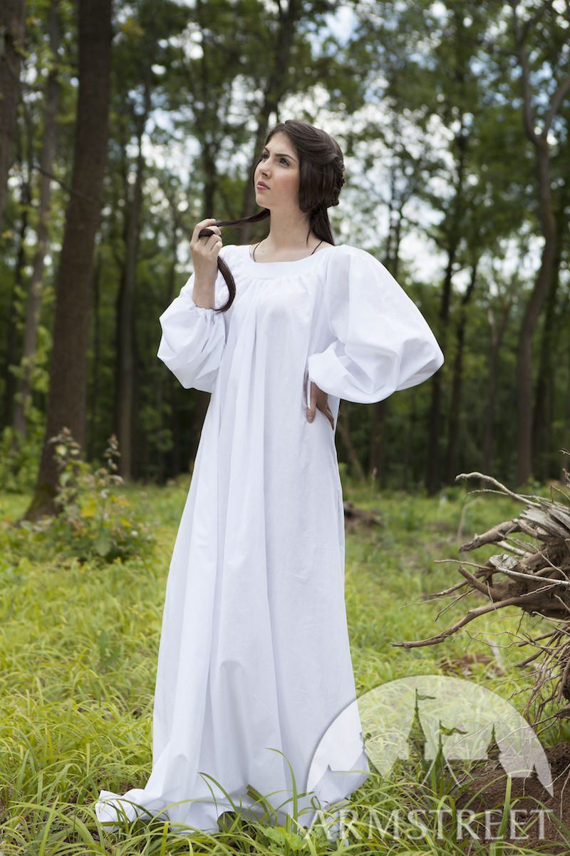 Renaissance Flax Linen Chemise Available In White