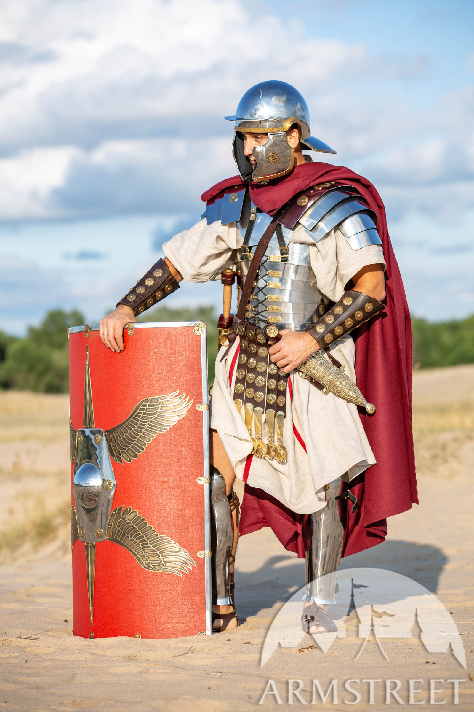 """Roman Armor Stainless Steel Lorica Full Set """"Cassius"""" For"""