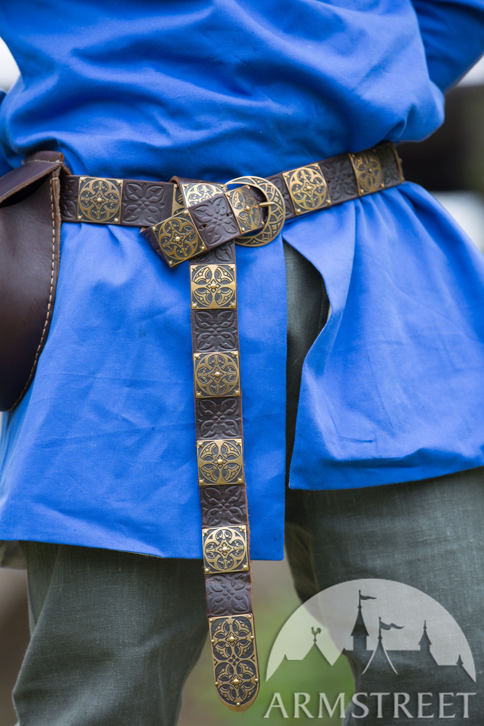 Romanesque Style Medieval Belt Available In Brown