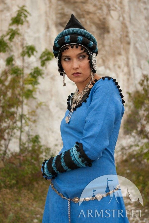Medieval Dress Fantasy Sarmatian Tsarina Costume Garb For