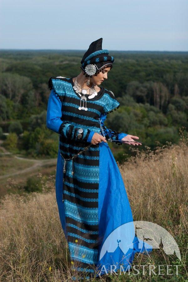 Medieval Dress And Overcoat Fantasy Sarmatian Tsarina