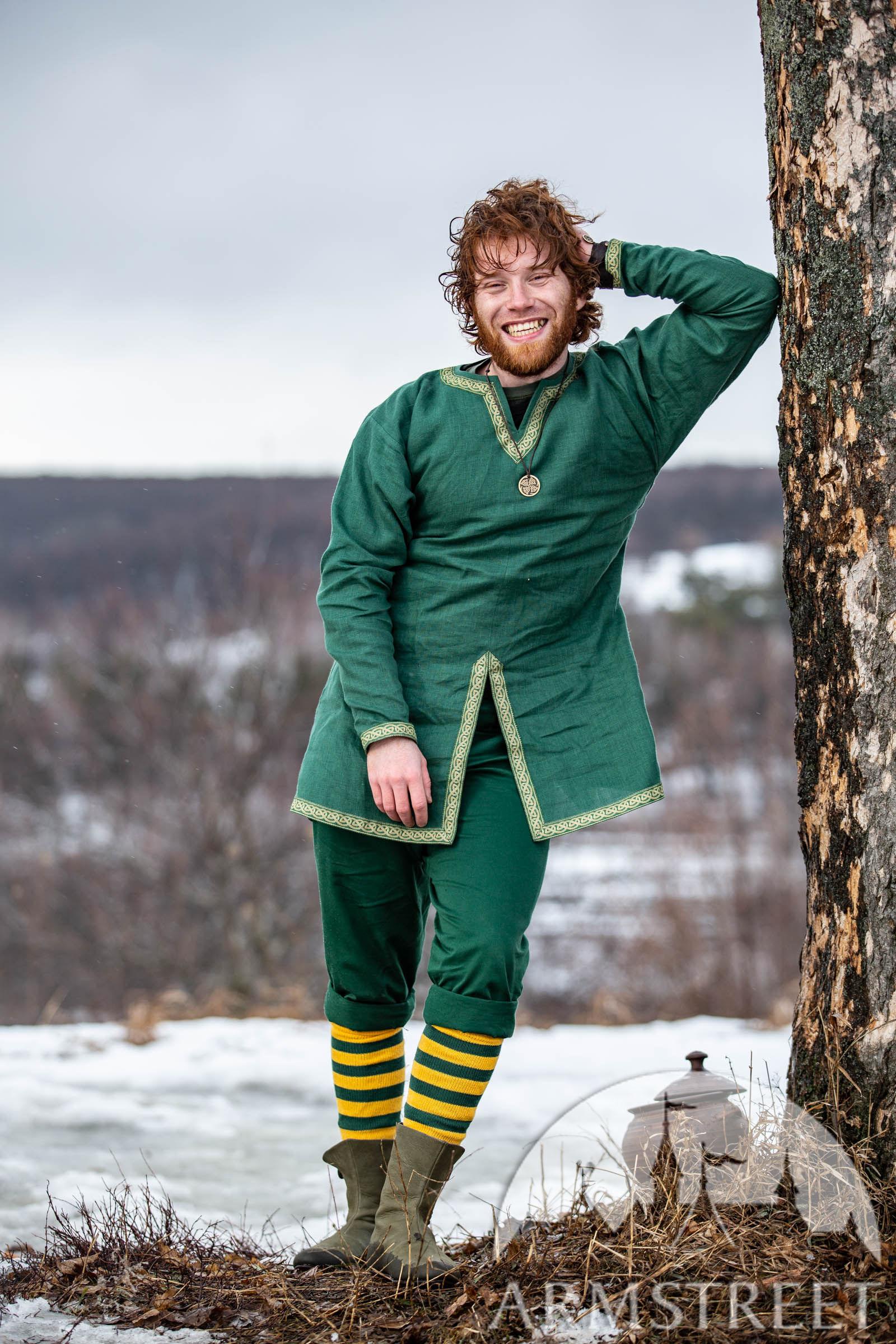 Short Linen Celtic Tunic With Trim Leprechaun For Sale