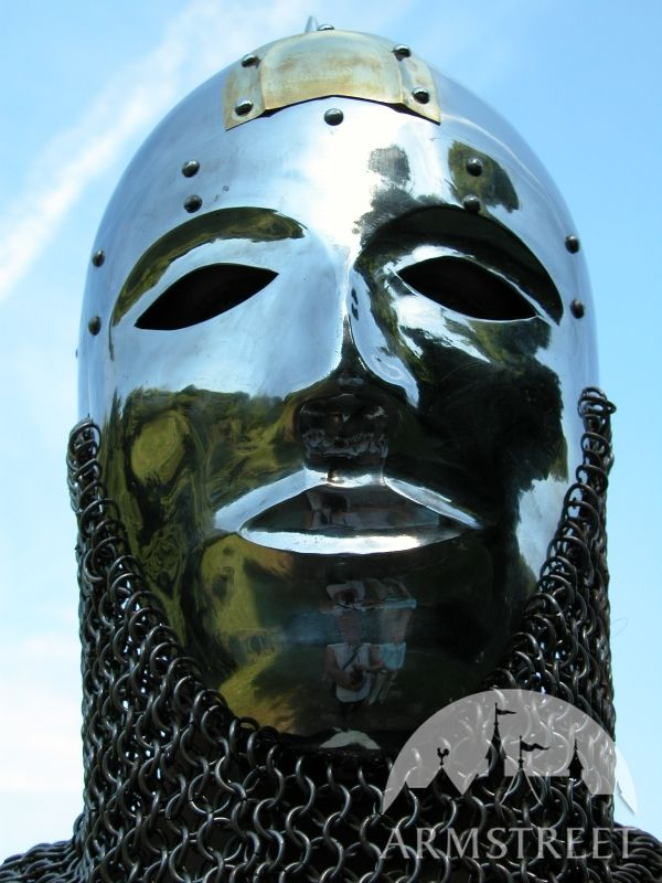 slavic cone helm helmet armor with facemask visor for