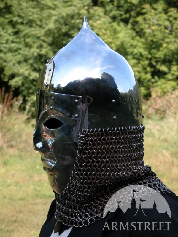 Slavic Cone Helm Helmet Armor With Face-mask Visor for