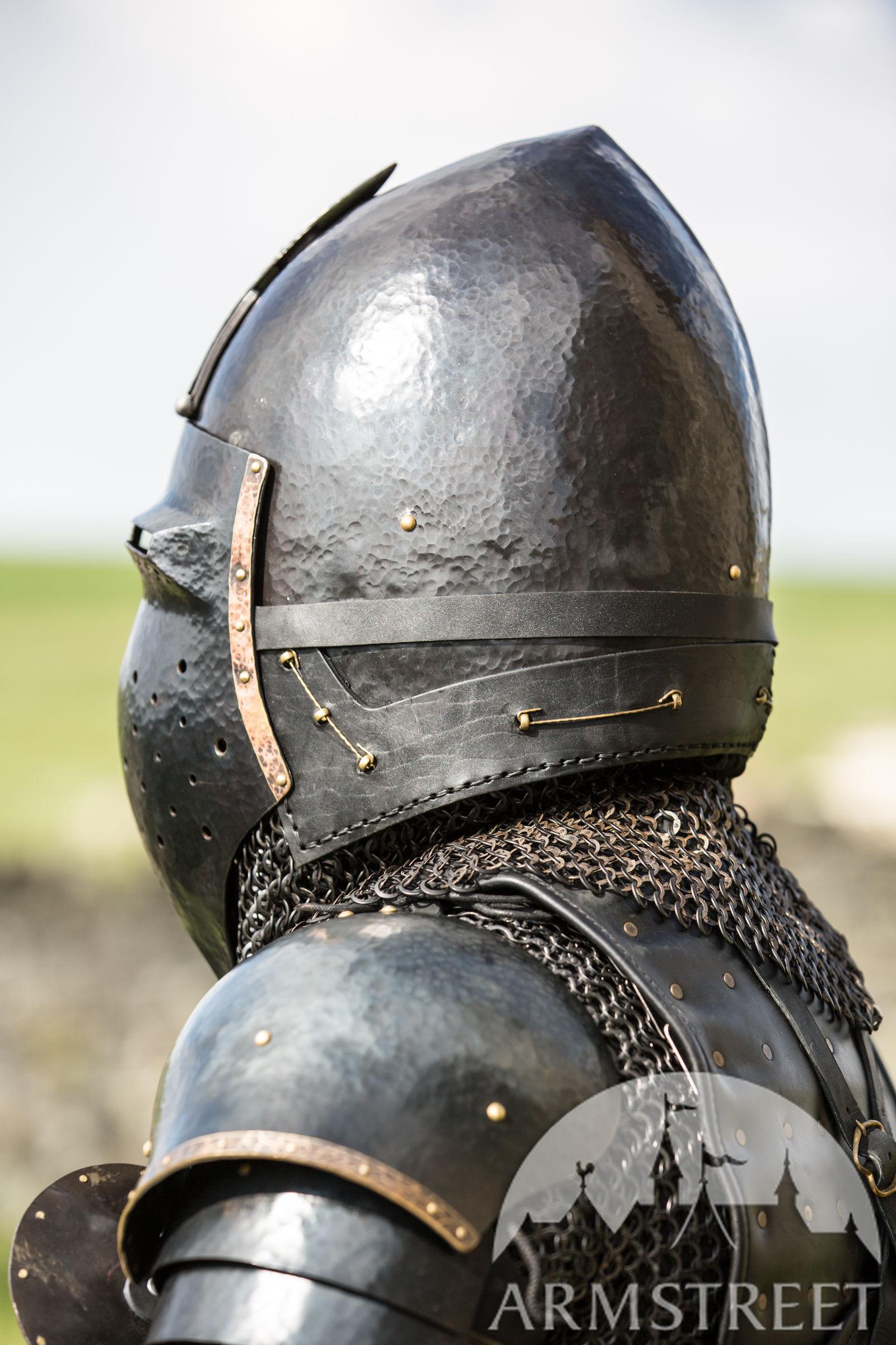 Crowns For Sale >> Blackened Klappvisor Bascinet XIV century helmet with ...
