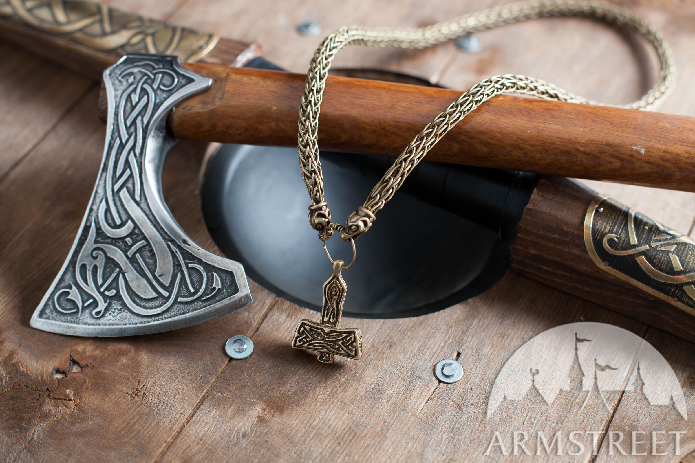 Thor S Hammer Viking Neck Chain Available In Brass By