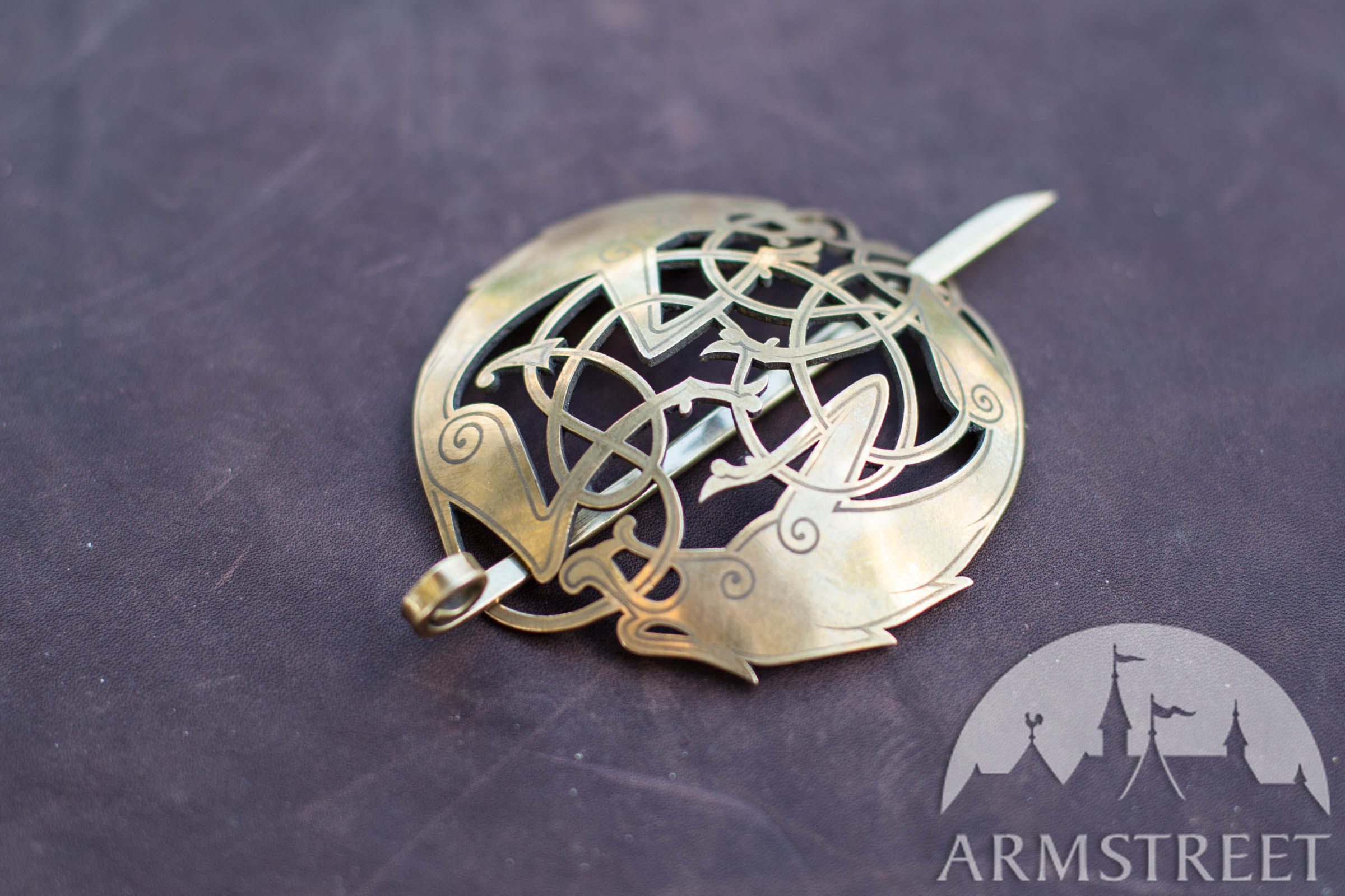 Viking S Brass Cloak Pin Clasp Available In Brass
