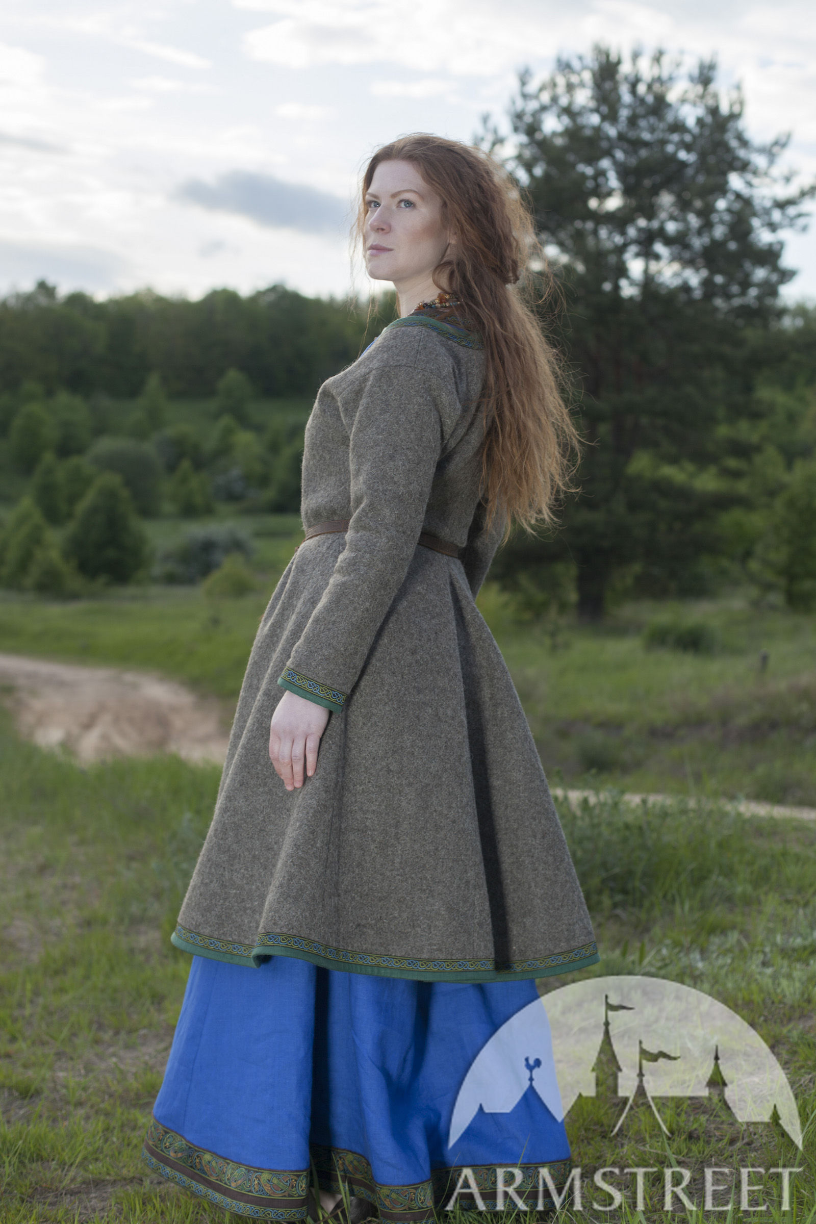 Viking Woolen Coat Quot Ingrid Quot Available In Natural Wool
