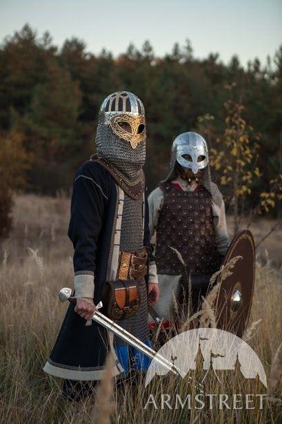 Viking Combat Helmet Valsgarde. Available in: brown ...