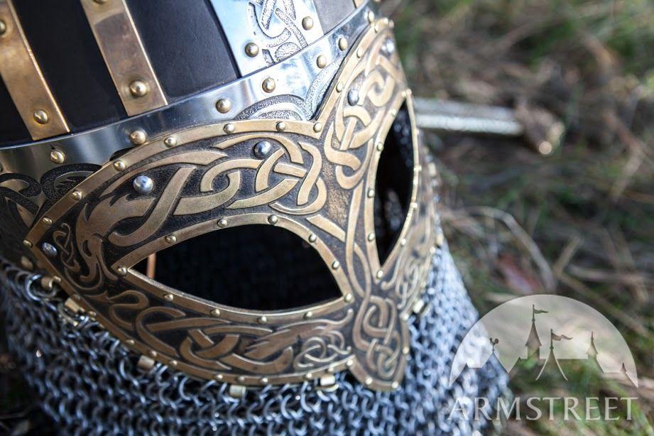 Viking Combat Helmet Valsgarde Available In Brown