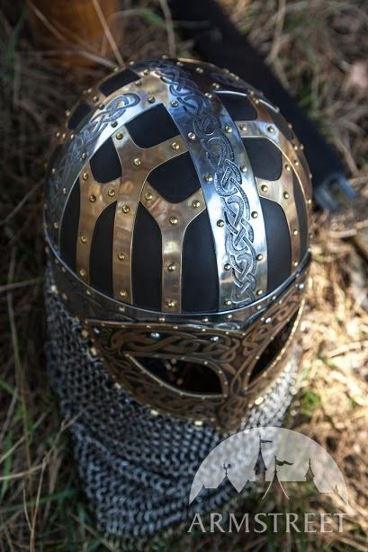 Viking Combat Helmet Valsgarde Available In Brown