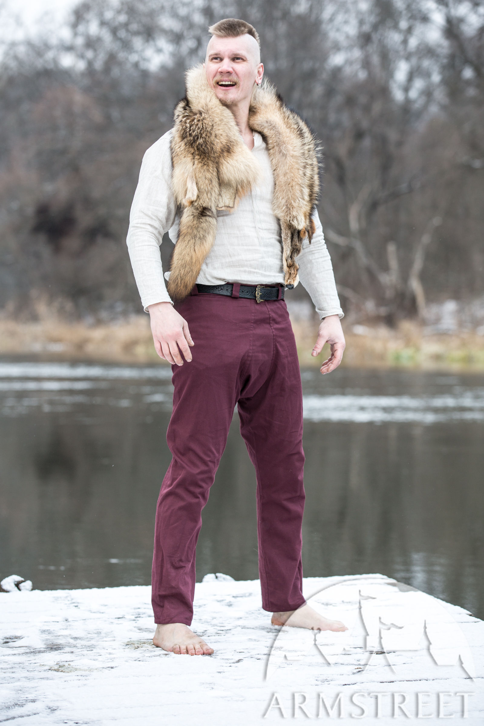 Cotton Viking Pants Knut The Merry Available In Dark