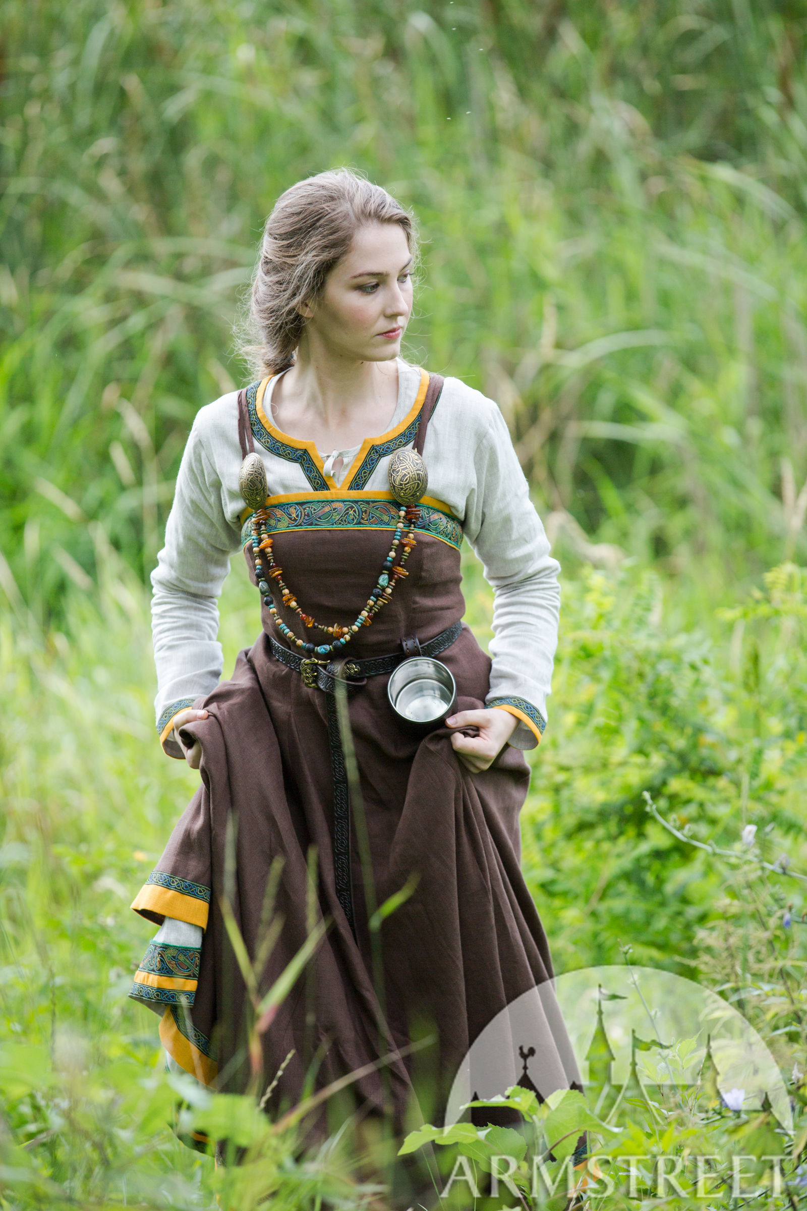 """Ancient Viking Dress and Apron """"Ingrid the Hearthkeeper ... Ancient Vikings Clothing"""