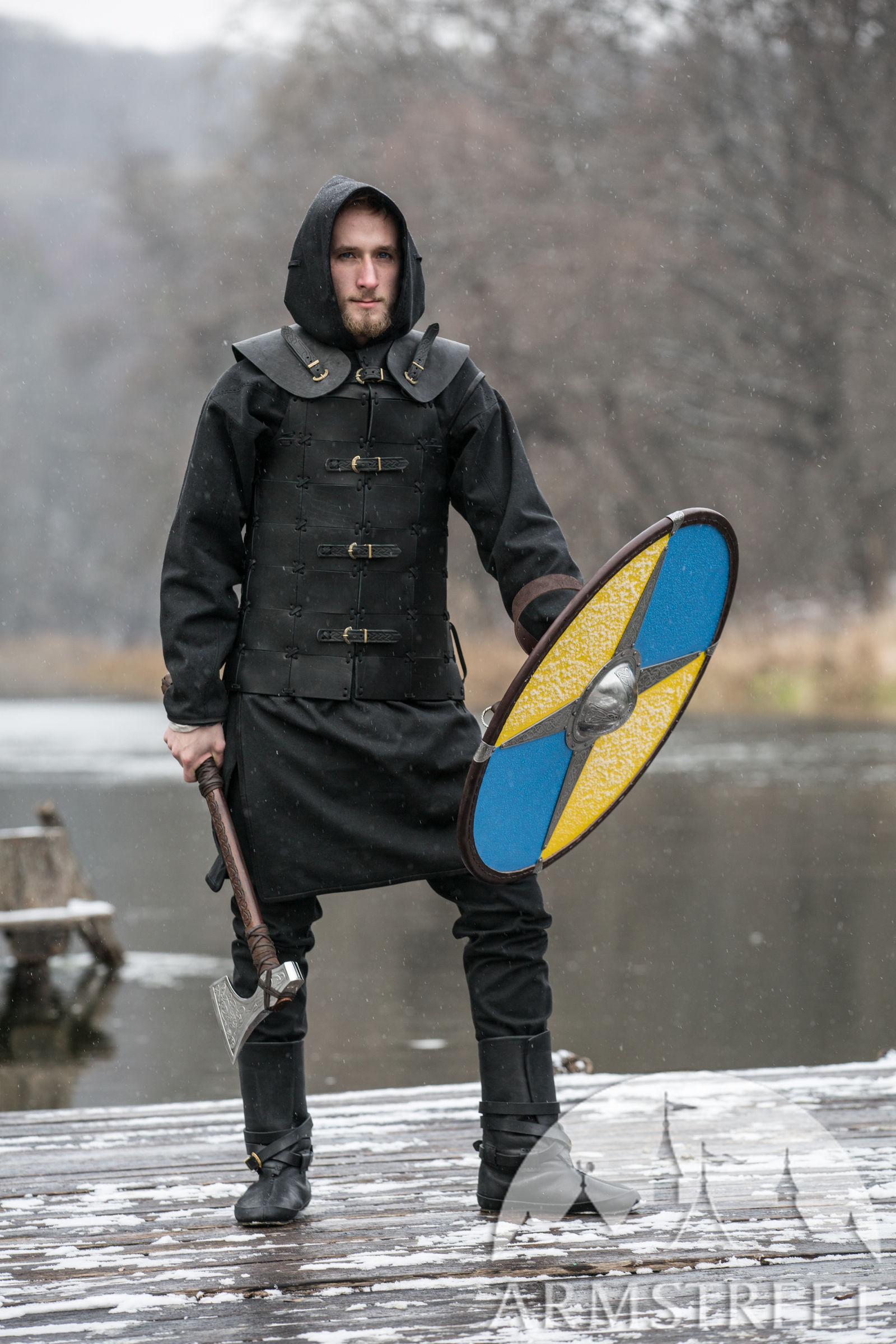 Viking Leather Vest Ragnvaldur The Traveller For Sale