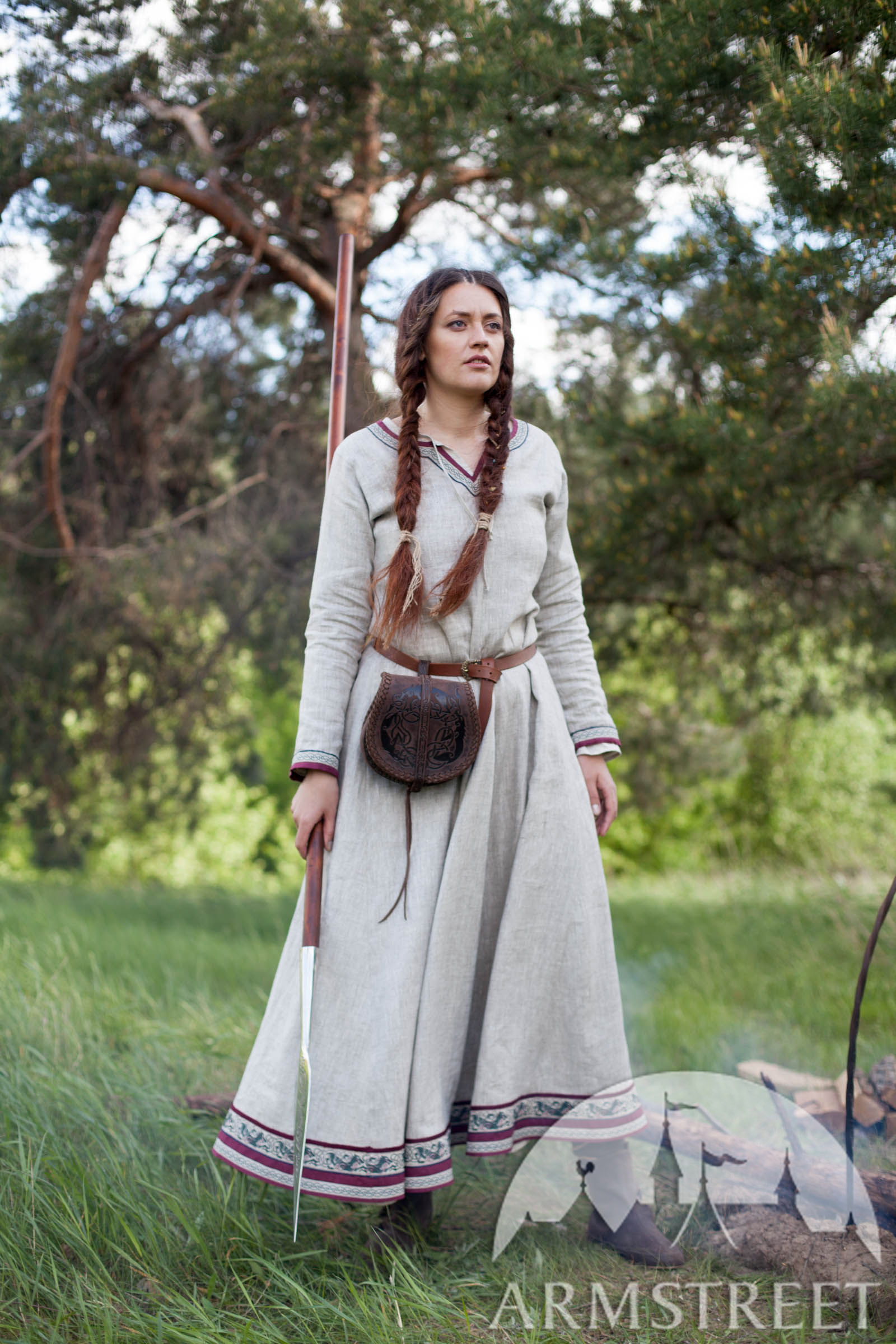 Viking Natural Linen Dress