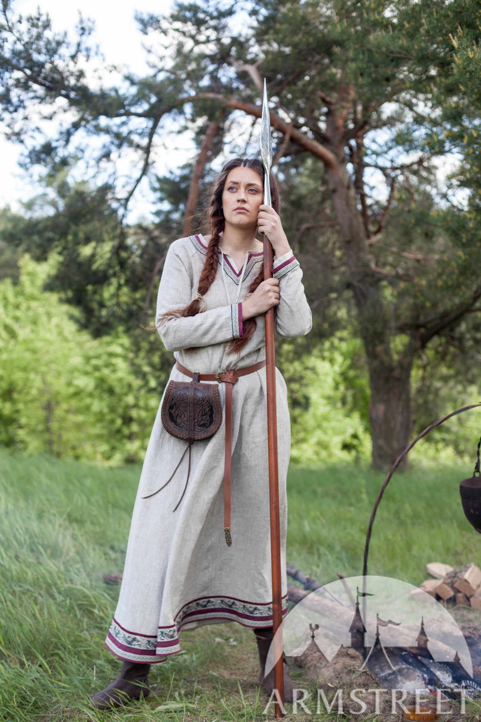 Viking Natural Linen Dress Quot Eydis The Shieldmaiden